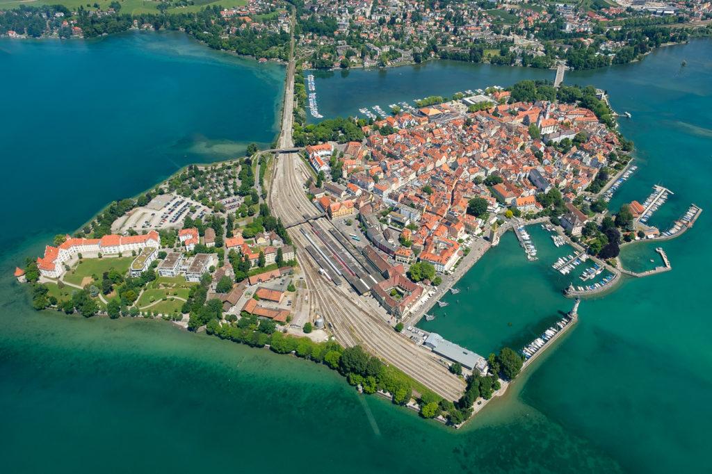 Luftaufnahme Insel Lindau