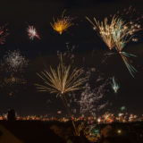 Feuerwerk über Remshalden